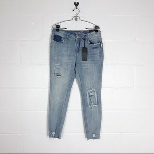 NWT mid rise jegging jeans Destroyed sz 14 curvy